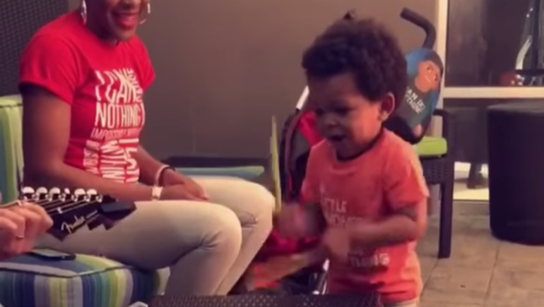 Two-Year-Old's Drumming Will Knock You Off Your Feet