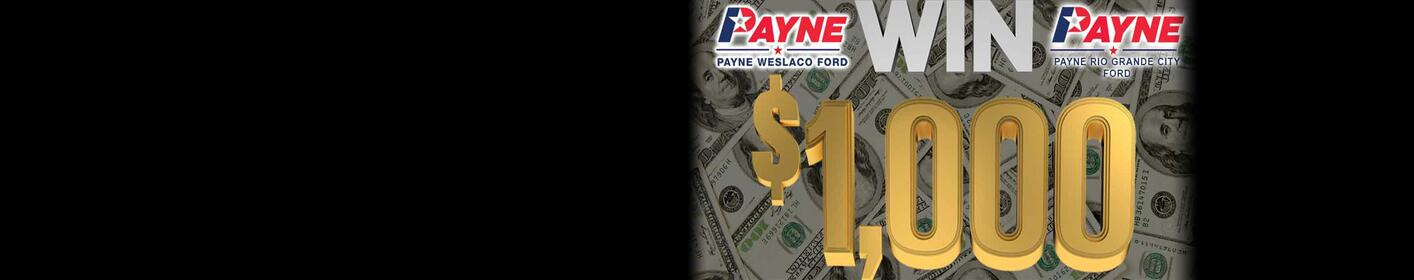 Listen to win $1,000 Weekdays 5AM-8PM!