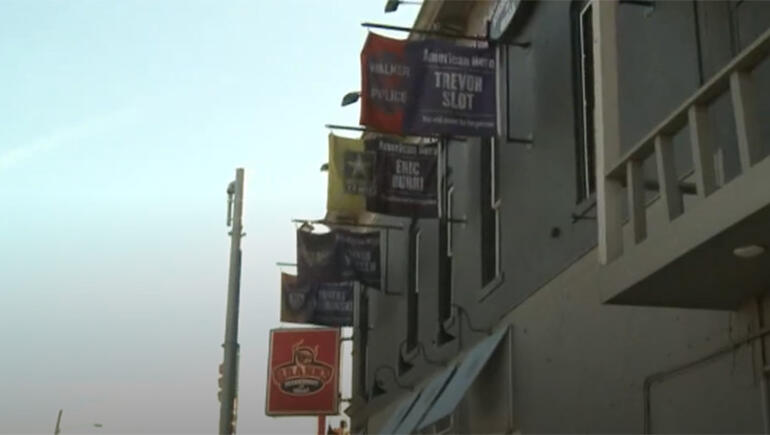 Michigan Restaurant Refuses to Take Down Flags Honoring Fallen Officers