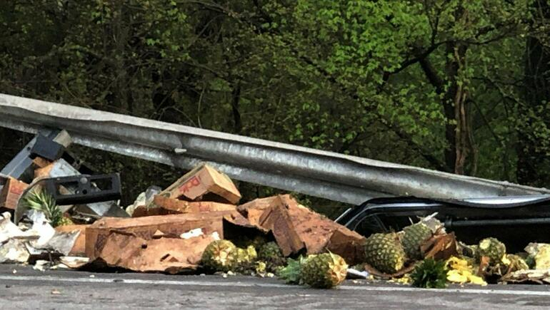 Cleanup On I-85: Over 30,000 Pounds Of Pineapple Spill Onto Highway