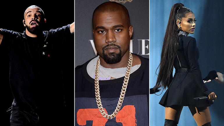 Ariana Grande, Drake & More Stars Who Unfollowed Kanye West On Twitter