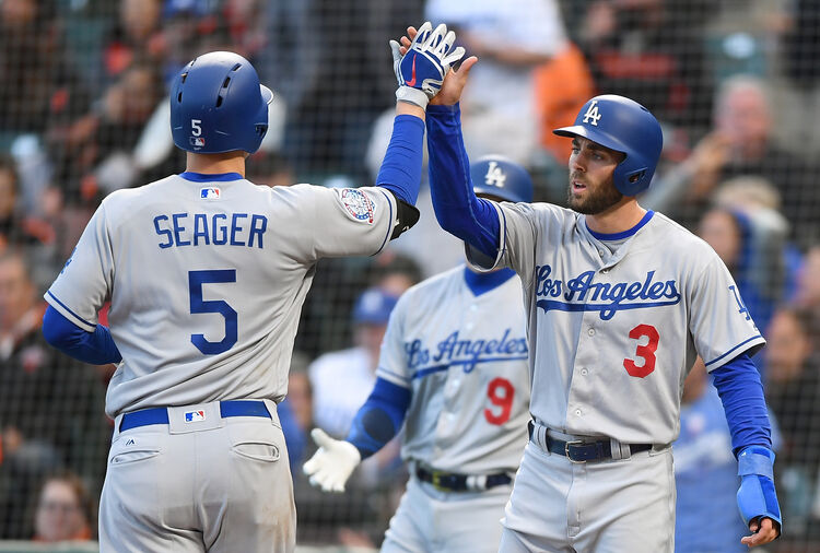 Dodgers Chris Taylor and Corey Seager