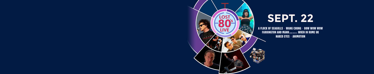 Tickets On Sale Now to LOST 80's LIVE at UMBC Event Center September 22nd
