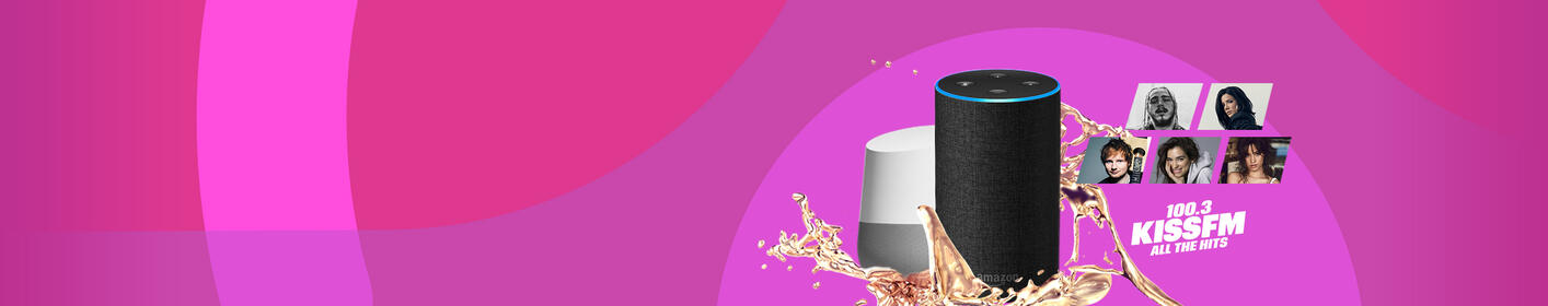 Listen to 100.3 Kiss FM on Amazon Alexa and Google Home