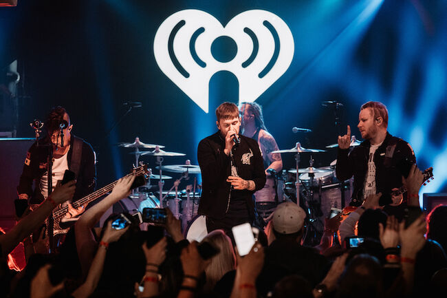 Shinedown performs live during iHeartRadio Album Release Party
