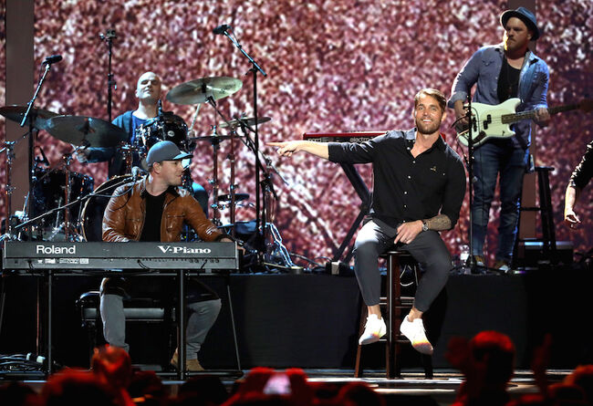 Gavin DeGraw, Brett Young perform at the iHeartCountry Festival