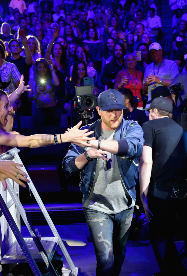Cole Swindell performs during the 2018 iHeartCountry Festival