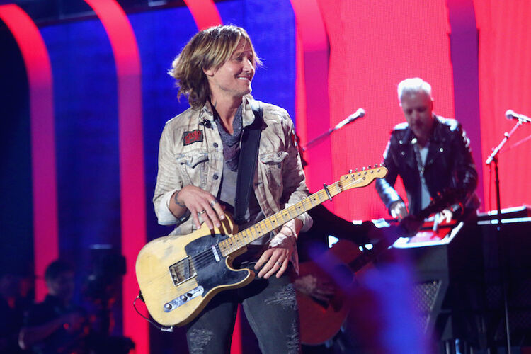 Keith Urban performs live during iHeartCountry Festival