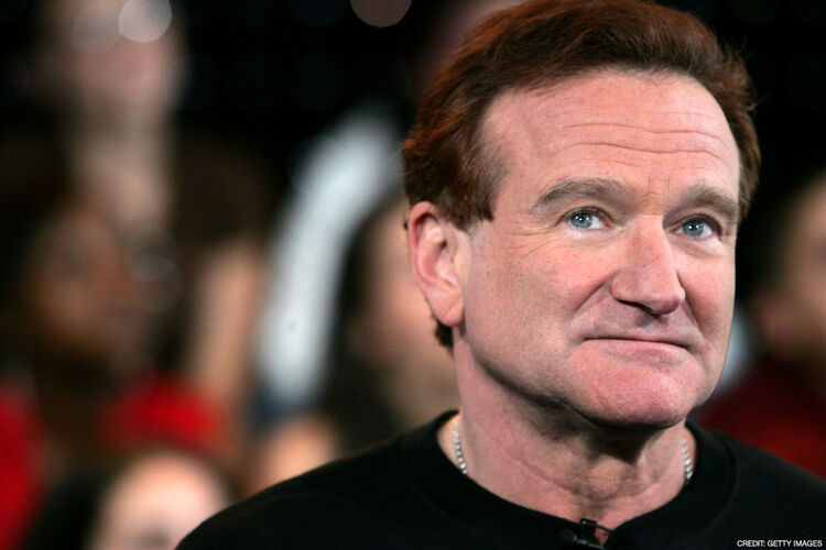 NEW YORK - APRIL 27: Actor Robin Williams appears onstage during MTV's Total Request Live at the MTV Times Square Studios on April 27, 2006 in New York City. It was announced on August 9, 2006 that Williams is seeking treatment for alcoholism after being sober for 20 years. (Photo by Peter Kramer/Getty Images)