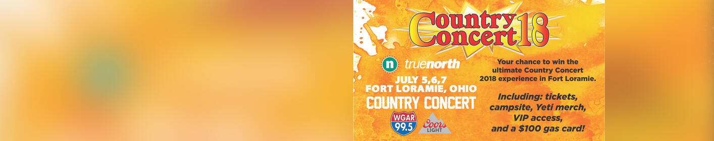 WGAR, truenorth and Coors Light Want to Send You to Country Concert 2018 in Fort Loramie, Ohio!