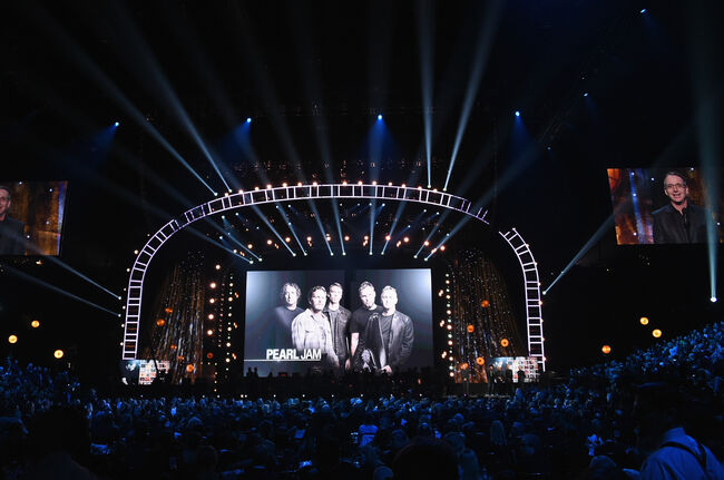 32nd Annual Rock & Roll Hall Of Fame Induction Ceremony, Pearl Jam, 2017, Getty Images