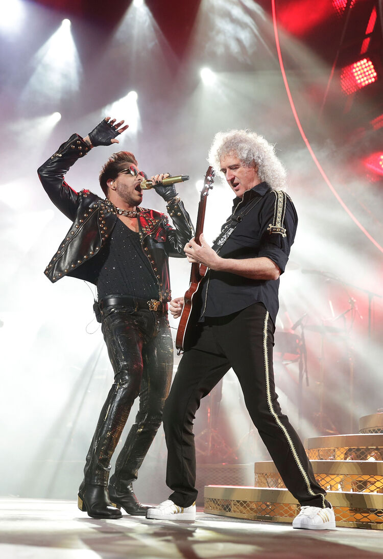 Adam Lambert and Brian May of QUEEN, 2014, Getty Images