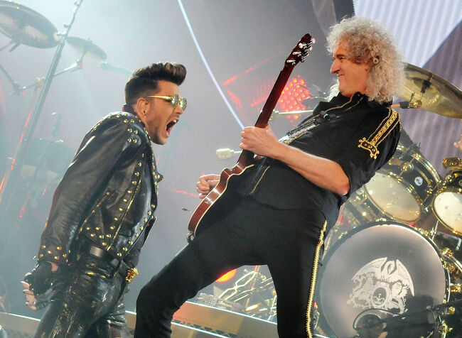 Adam Lambert & Brian May, 2015, Getty Images