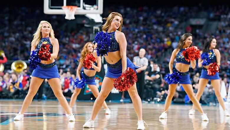Kansas University's cheerleading squad