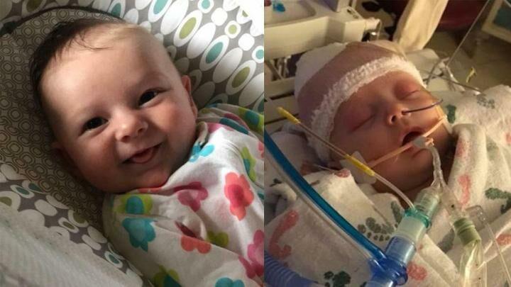 Seven week old Iowa baby McKenna Hovenga