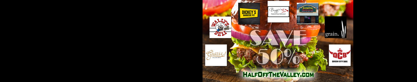 Treat yourself for HALF PRICE! Restaurants selling Gift Certificates for 1/2 price on May 25th!