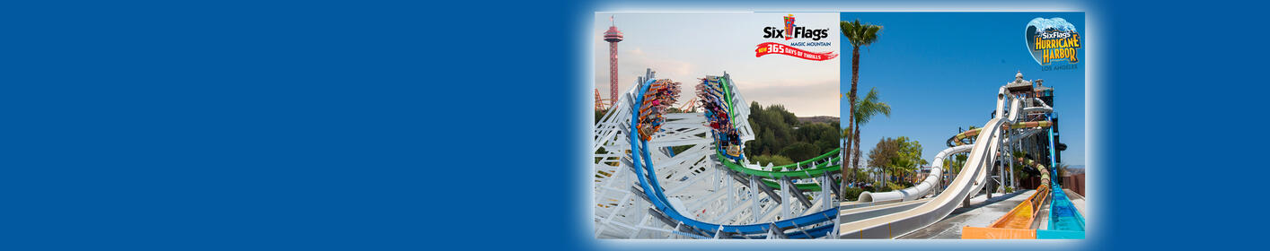 Enter for your chance to win a 4-Pack of tickets to Six Flags Magic Mountain and Hurricane Harbor!