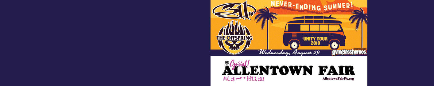 Listen to Bearman and Keith to WIN TICKETS! 311 & The Offspring at The Great Allentown Fair!