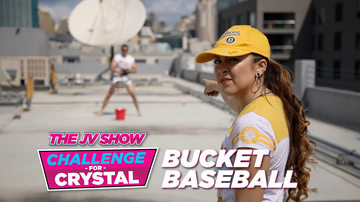 The JV Show - The JV Show Challenge for Crystal: Making a Baseball Throw