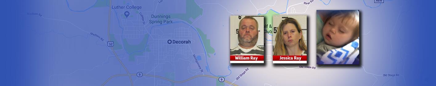Missing 2-year-old South Carolina girl found in Iowa