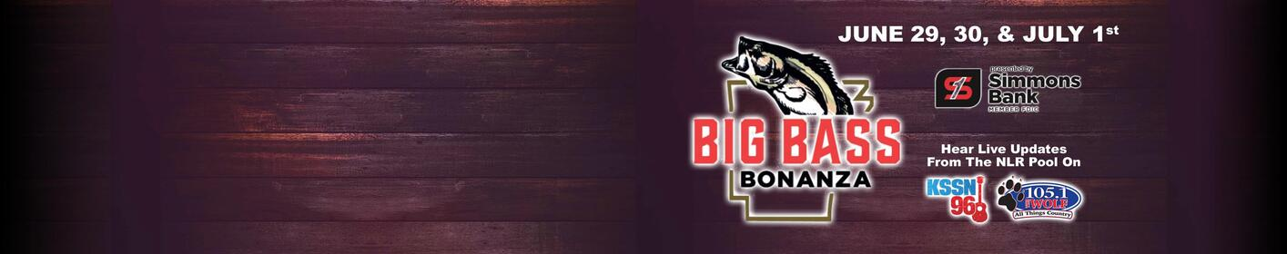 Register now for the 2018 Arkansas Big Bass Bonanza and your share of the $100k prize money!