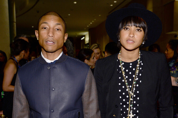 Pharrell and wife-photo:Getty Images North America
