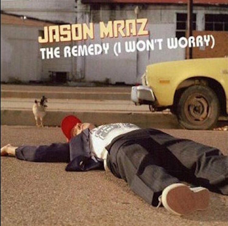 """Jason Mraz - """"The Remedy (I Won't Worry)"""" Single Cover Art"""