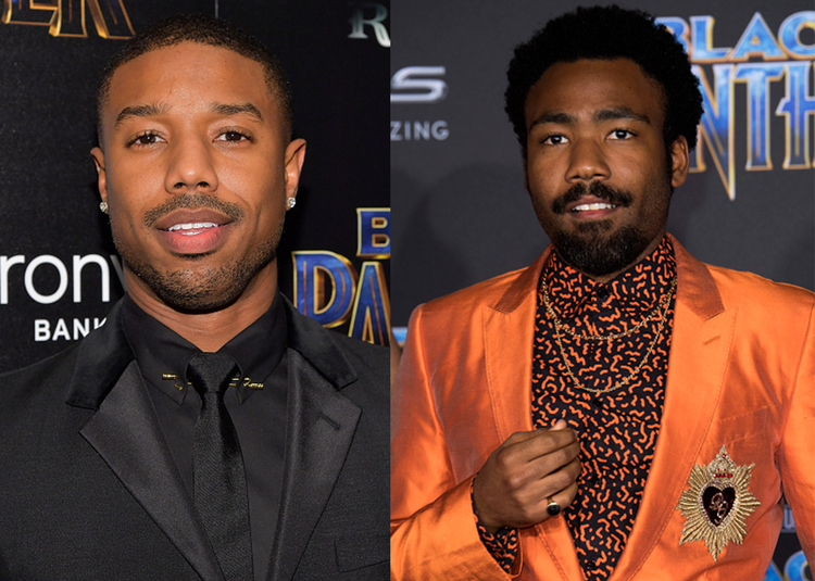 Michael B Jordan and Donald Glover - Getty Images