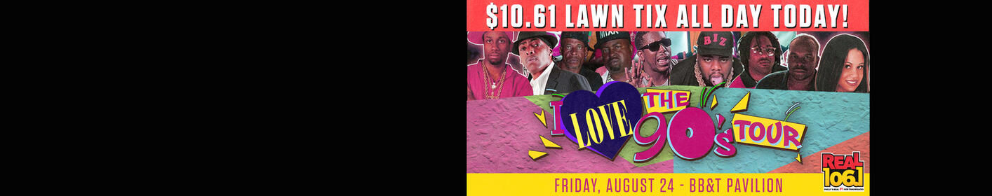 It's #TBT ! All day today you can grab a lawn ticket for just $10.61 (+fees) to our I Love The 90s summer concert!