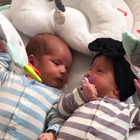 How Sisanie's Twins Are Already Communicating
