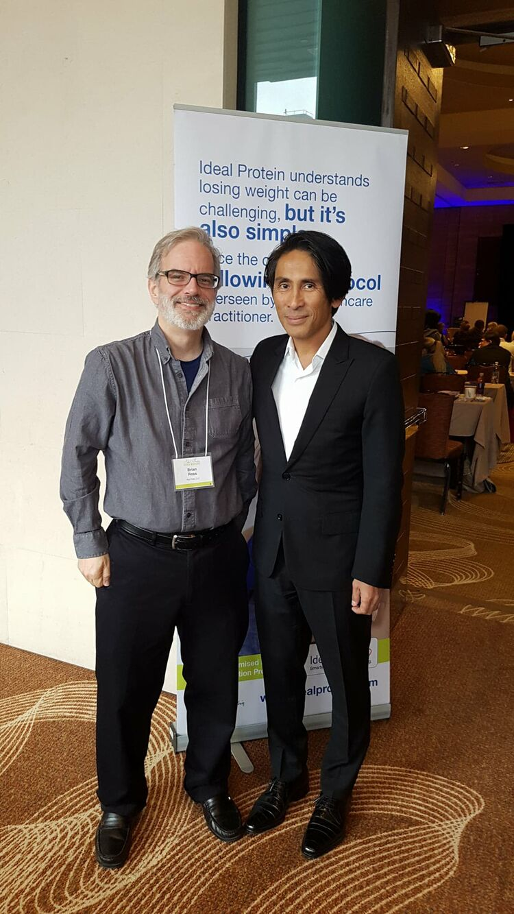 Brian with Dr. Tran Tien Chanh, co-founder of Ideal Protein
