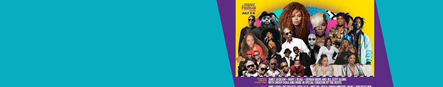 You don't want to miss the 2018 ESSENCE® Festival, Presented by Coca Cola ®