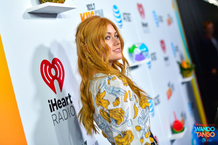 Katherine McNamara arrives at the 2018 iHeartRadio Wango Tango by AT&T at Banc of California Stadium on June 2, 2018 in Los Angeles, California.