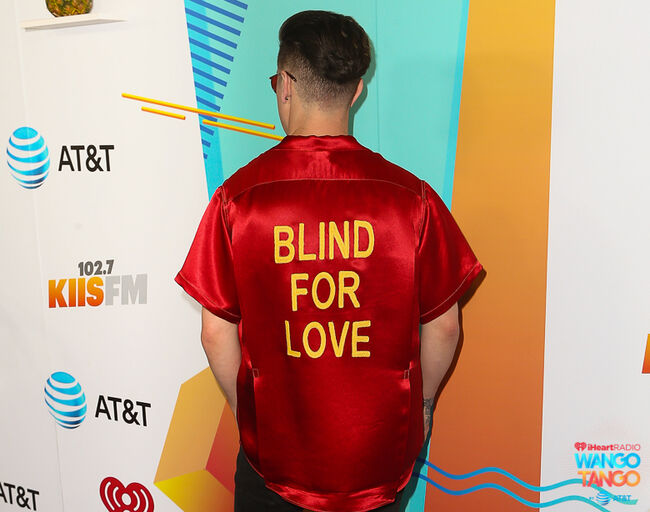 Logan Henderson arrives at the 2018 iHeartRadio Wango Tango by AT&T at Banc of California Stadium on June 2, 2018 in Los Angeles, California.