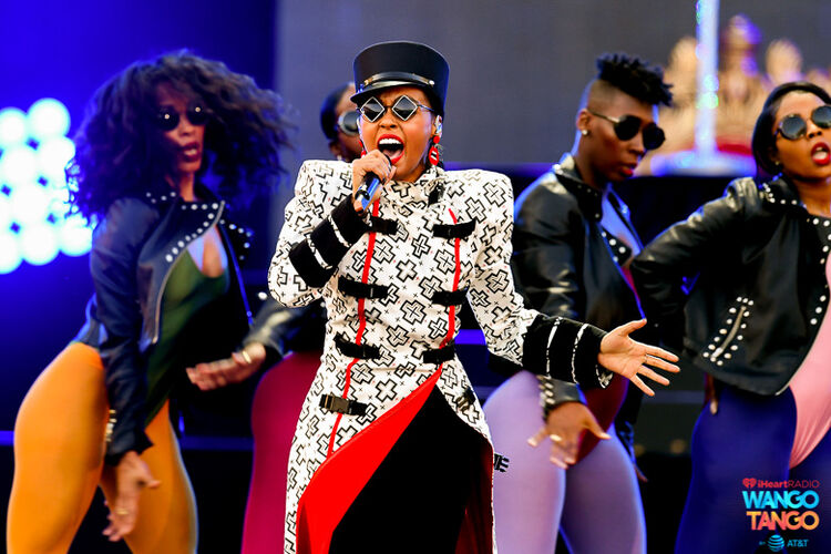 Janelle Monae performs onstage during the 2018 iHeartRadio Wango Tango by AT&T at Banc of California Stadium on June 2, 2018 in Los Angeles, California.