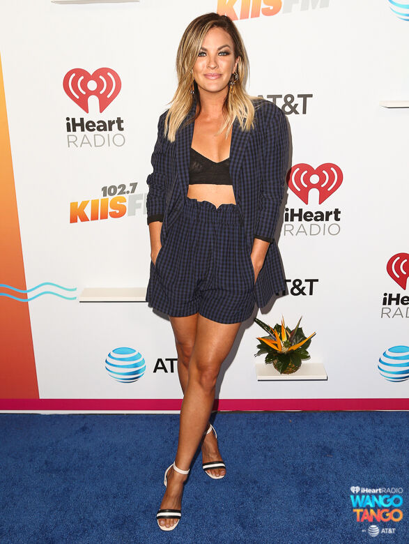 Becca Tilley arrives at the 2018 iHeartRadio Wango Tango by AT&T at Banc of California Stadium on June 2, 2018 in Los Angeles, California.