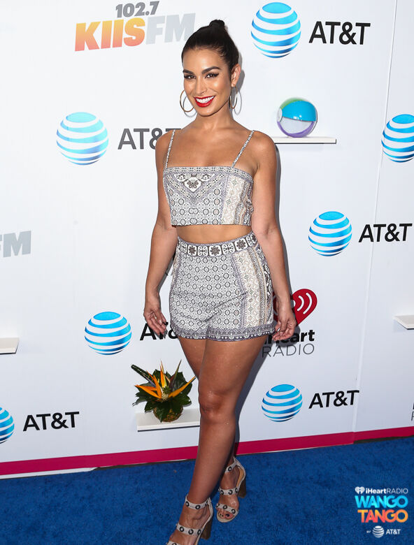 Ashley Iaconetti arrives at the 2018 iHeartRadio Wango Tango by AT&T at Banc of California Stadium on June 2, 2018 in Los Angeles, California.