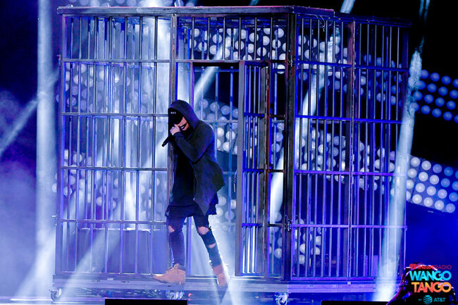 NF performs onstage during the 2018 iHeartRadio Wango Tango by AT&T at Banc of California Stadium on June 2, 2018 in Los Angeles, California.