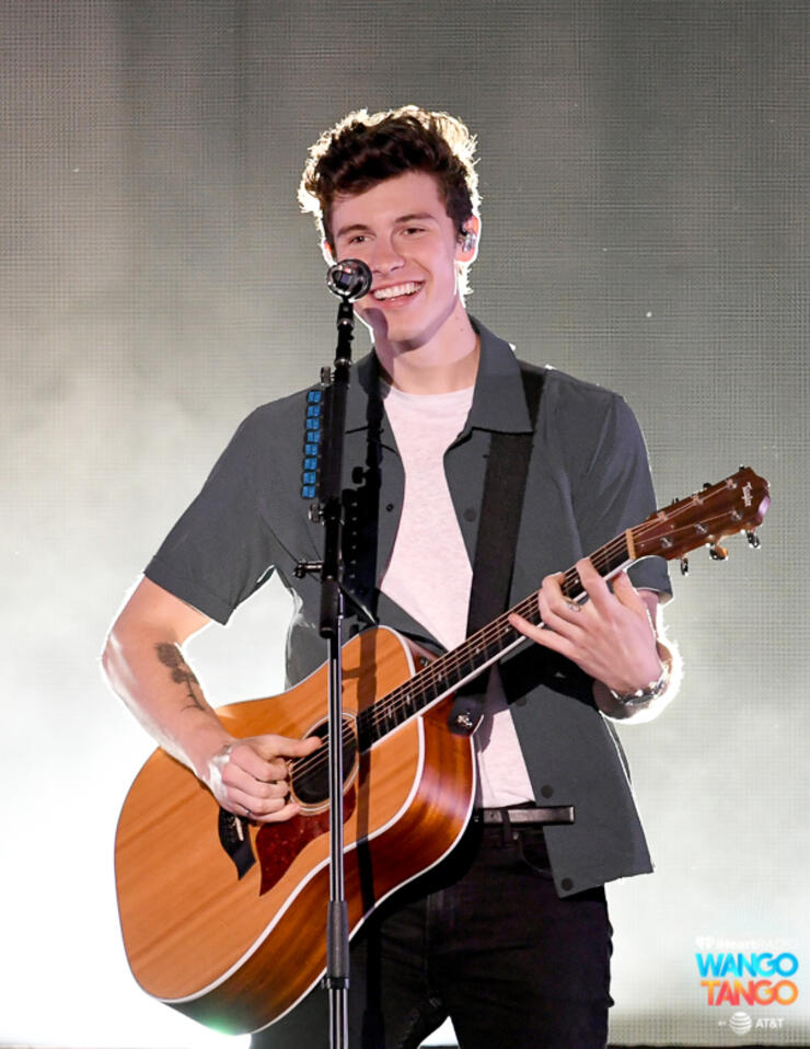Shawn Mendes performs onstage during the 2018 iHeartRadio Wango Tango by AT&T at Banc of California Stadium on June 2, 2018 in Los Angeles, California.