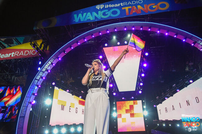 Meghan Trainor performs onstage during the 2018 iHeartRadio Wango Tango by AT&T at Banc of California Stadium on June 2, 2018 in Los Angeles, California.