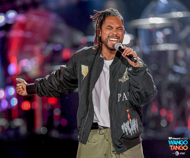 Miguel performs onstage during the 2018 iHeartRadio Wango Tango by AT&T at Banc of California Stadium on June 2, 2018 in Los Angeles, California.