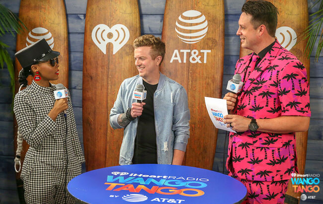 Janelle Monae, JoJo Wright and Jesse Lozano backstage at the 2018 iHeartRadio Wango Tango by AT&T at Banc of California Stadium on June 2, 2018 in Los Angeles, California.