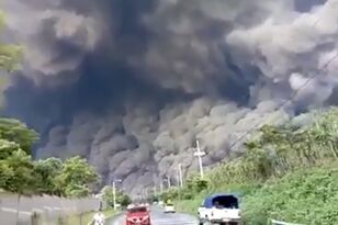 People Barely Escape Giant Ash Cloud After Volcanic Explosion
