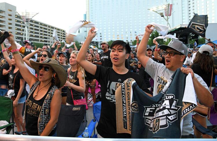 Vegas Golden Knights fans