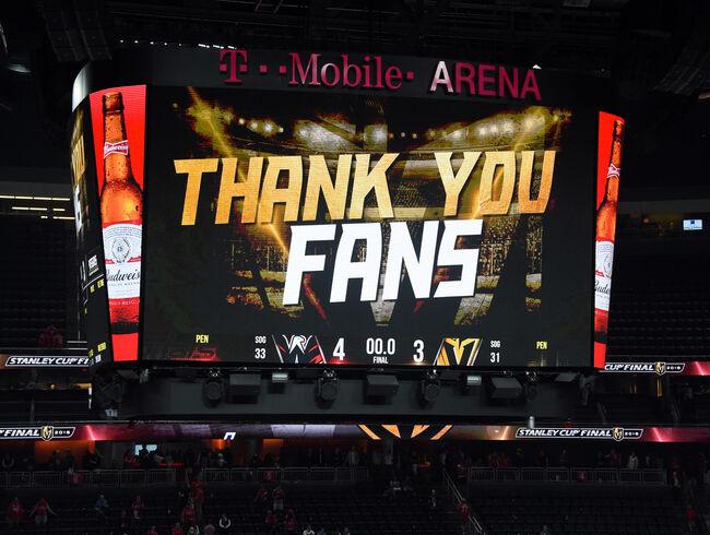 Vegas Golden Knights Thank You Fans