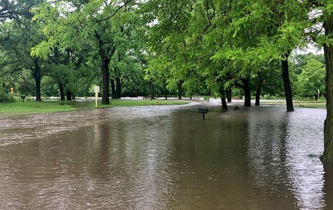 Mason City's East Park under water - photo City of Mason City