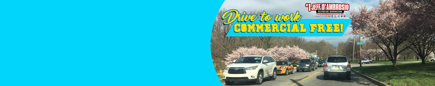 Weekday mornings w/Johnny starting @7:35 thanks to Jeff D'Ambrosio Destination Downingtown