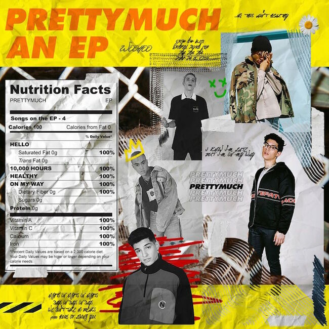 PRETTYMUCH - 'PRETTYMUCH an EP' Album Cover Art