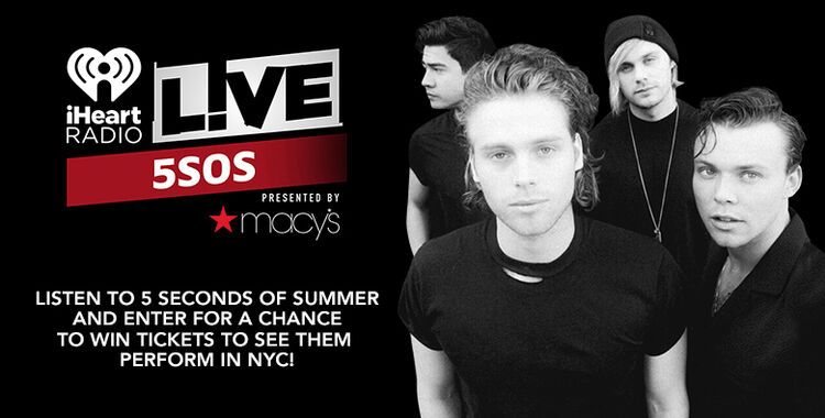 5 Seconds of Summer iHeartRadio Contest