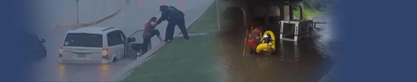 Ames flash flooding traps drivers after heavy rain PHOTOS